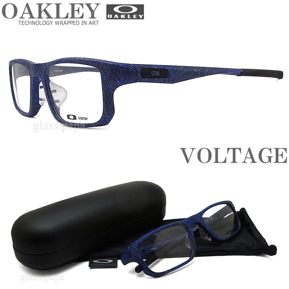 OAKLEY オークリー メガネフレーム [VOLTAGE ボルテージ] OX8066-0455 (サイズ55) 【送料無料・代引手数料無料】 眼鏡 ブランド スポーツ 伊達メガネ 度付き ネイビー系 メンズ・レディース