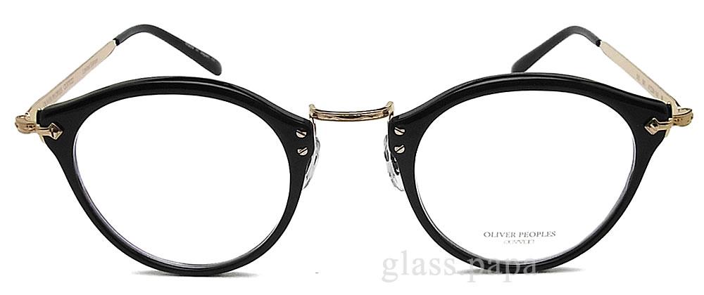 【ポイント5倍!!クーポン付!! 16日01:59まで】 OLIVER PEOPLES オリバーピープルズ メガネフレーム 505-BK 雅 Limited Edition ボストン 眼鏡 クラシック ブラック×ゴールド メンズ レディース