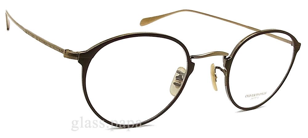 OLIVER PEOPLES奥利弗大众眼镜架子DAWSON-MBRAG古典金属眼镜名牌没镜片的眼镜度从属于的暗褐色人·女士钛奥利弗眼镜glasspapa