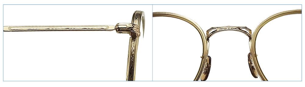 OLIVER PEOPLES オリバーピープルズ メガネフレーム BOLAND OG 眼鏡 クラシック 伊達メガネ 度付き オリーブ×ゴールド メンズ・レディース  オリバー メガネ