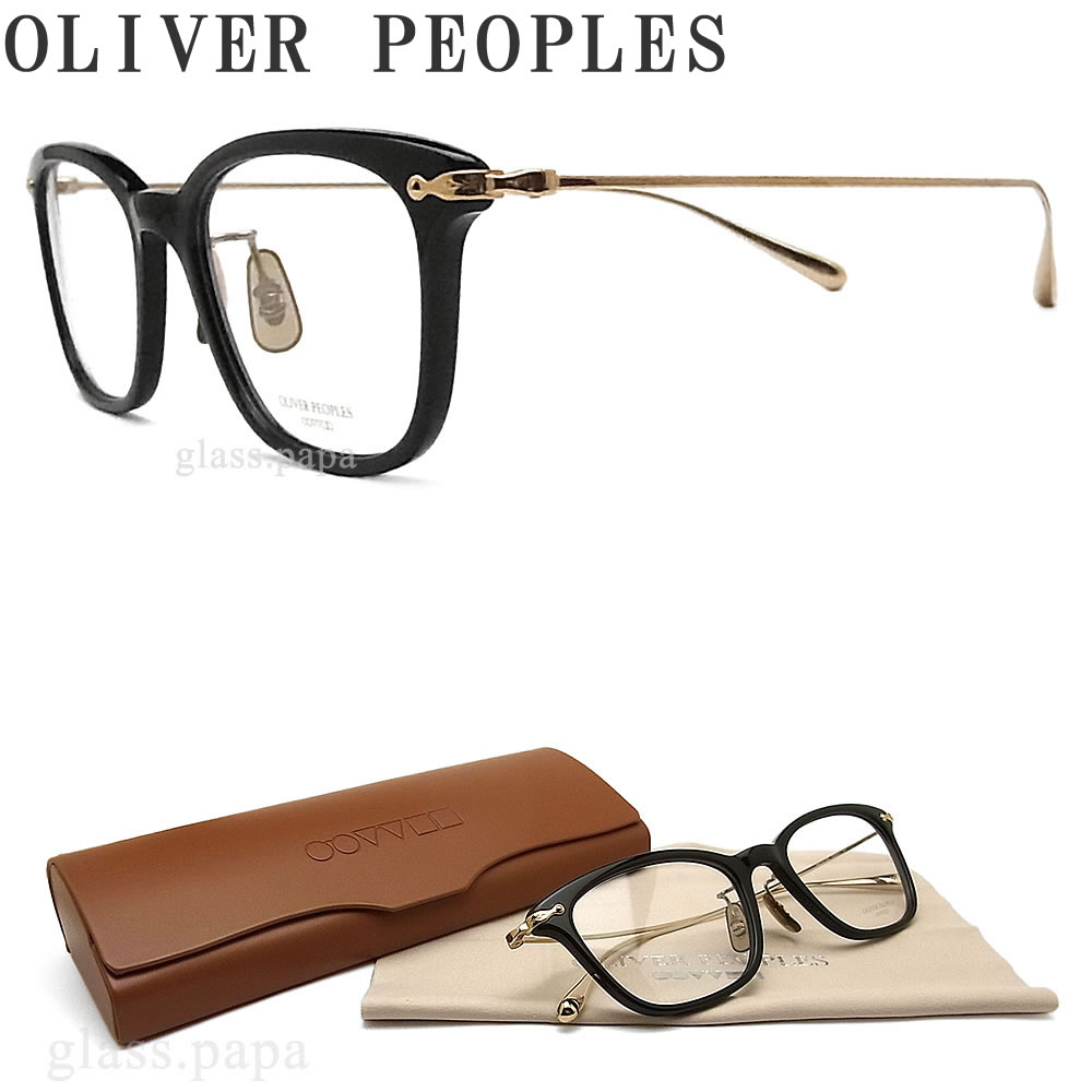 OLIVER PEOPLES オリバーピープルズ メガネフレーム COLLINA BK ウェリントン型 眼鏡 クラシック 伊達メガネ 度付き ブラック メンズ・レディース オリバー メガネ
