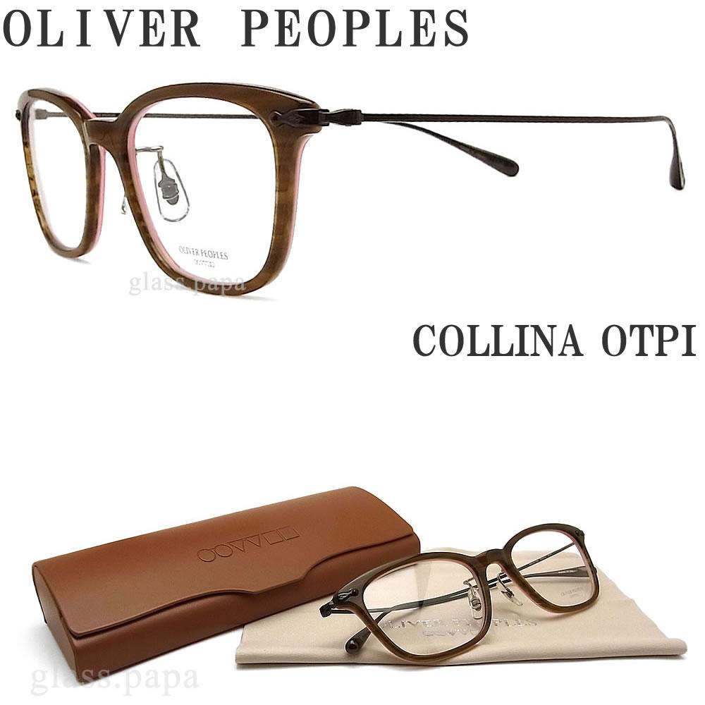 OLIVER PEOPLES オリバーピープルズ メガネフレーム COLLINA OTPI ウェリントン型 眼鏡 クラシック 伊達メガネ 度付き ブラウンササ メンズ・レディース オリバー メガネ