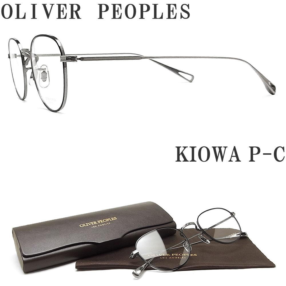 OLIVER PEOPLES オリバーピープルズ メガネフレーム KIOWA P-C 眼鏡 クラシック 伊達メガネ 度付き マットブラック×グレー メンズ・レディース