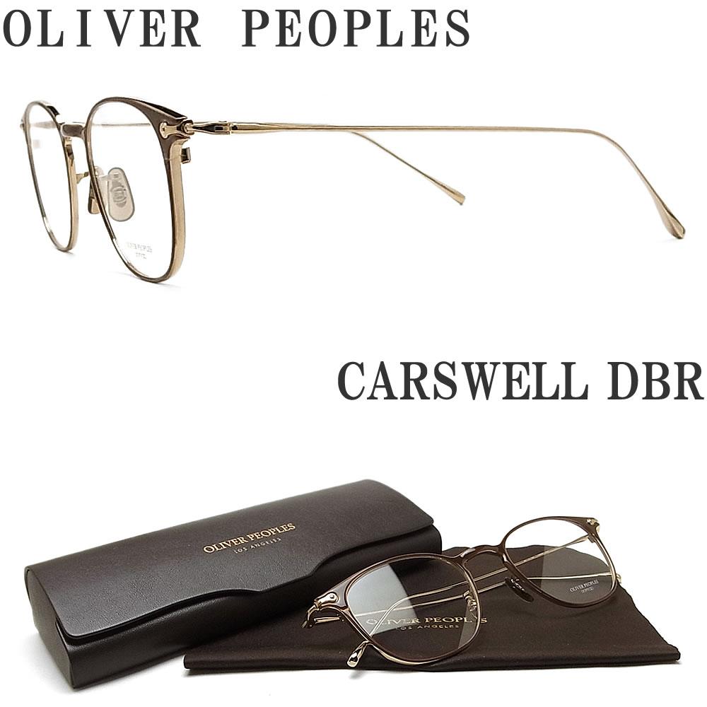 OLIVER PEOPLES オリバーピープルズ メガネフレーム CARSWELL DBR 眼鏡 クラシック ブラウン×ゴールド メンズ レディース  オリバー メガネ