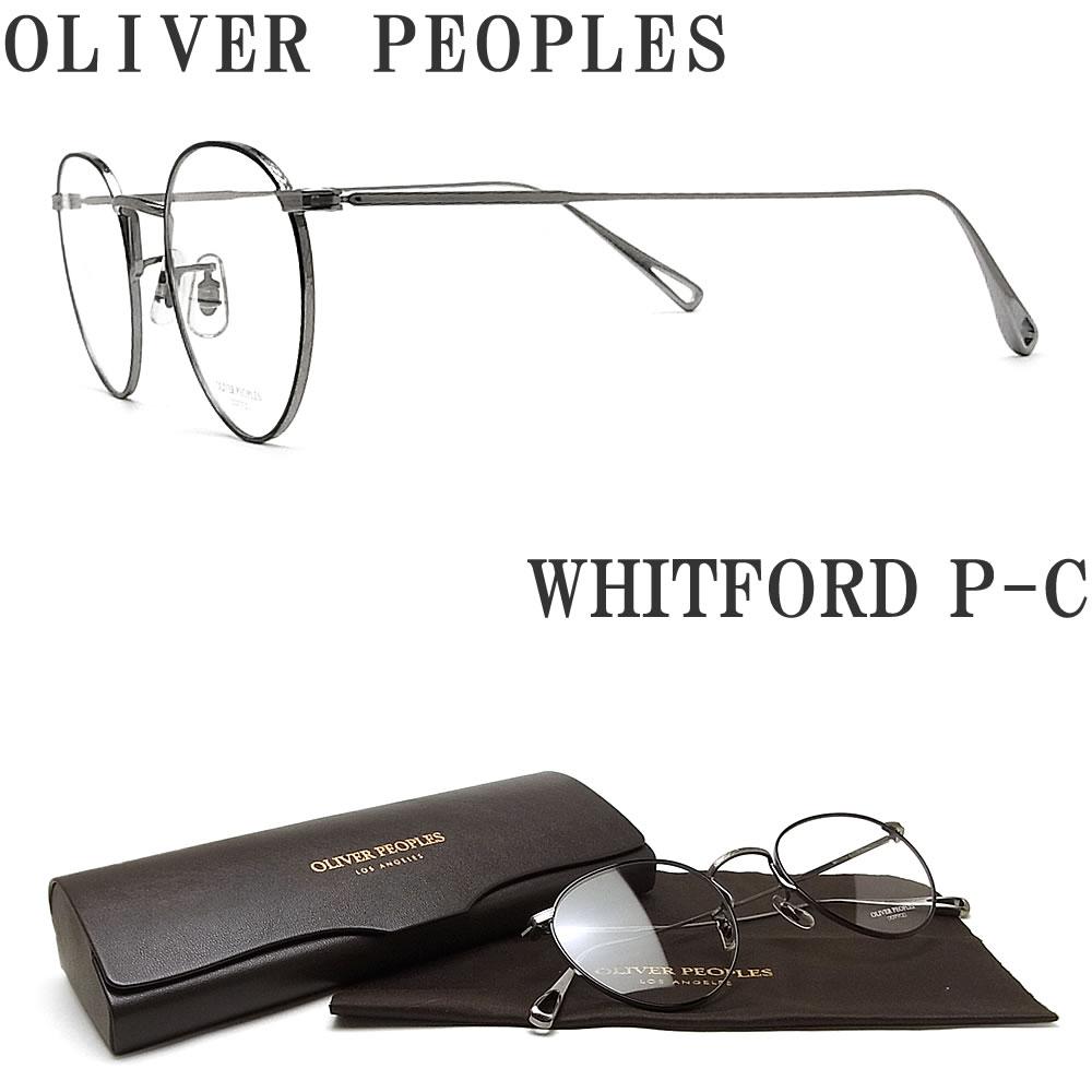 OLIVER PEOPLES オリバーピープルズ メガネフレーム WHITFORD P-C 眼鏡 クラシック ブラック×グレー メンズ レディース オリバー メガネ