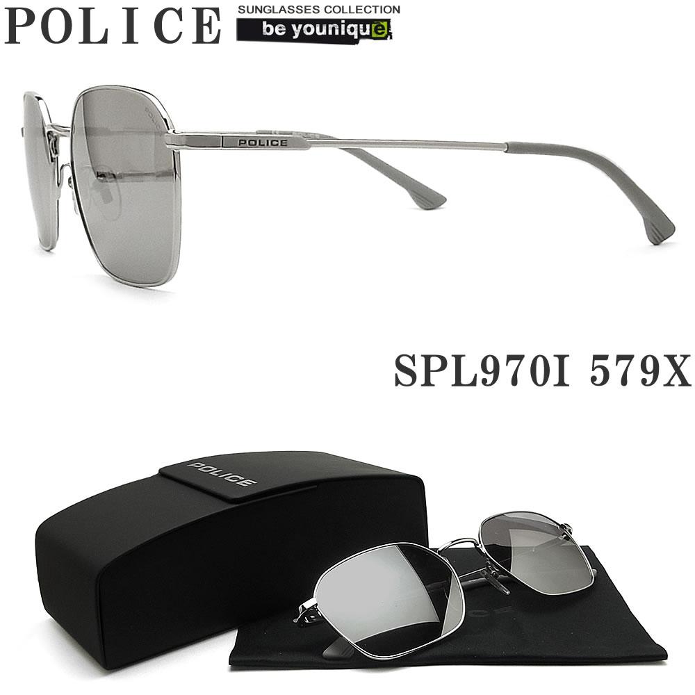POLICE ポリス サングラス SPL970I 579X TUXEDO1 シルバー ミラーレンズ メンズ レディース 国内正規品