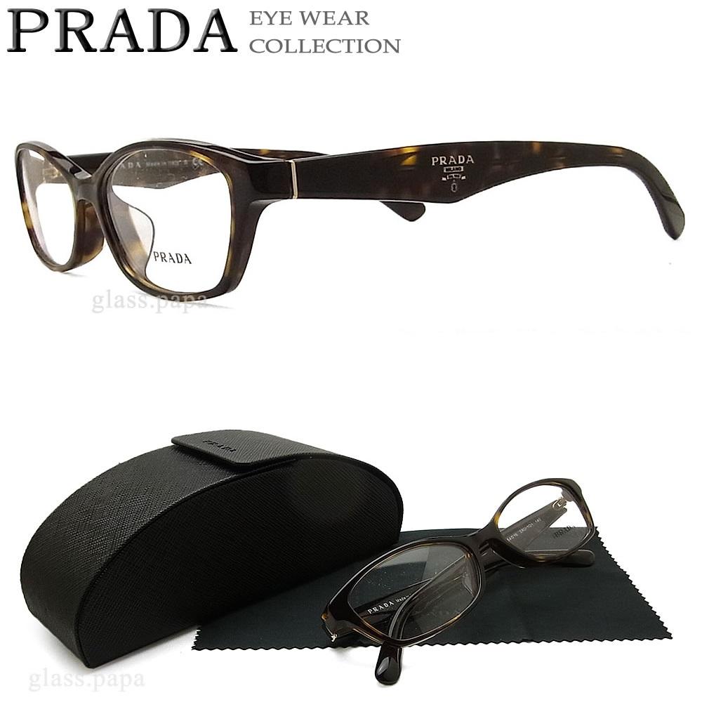 プラダ メガネ PRADA VPR02S-2AU 【送料無料・代引手数料無料】 眼鏡 ブランド 伊達メガネ 度付き ダークハバナ メンズ セル