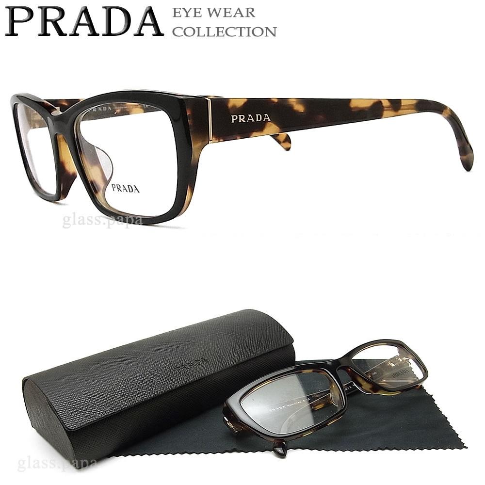 プラダ メガネ PRADA VPR18OA-NAI 【送料無料・代引手数料無料】 眼鏡 ブランド 伊達メガネ 度付き ブラック メンズ・レディース セル