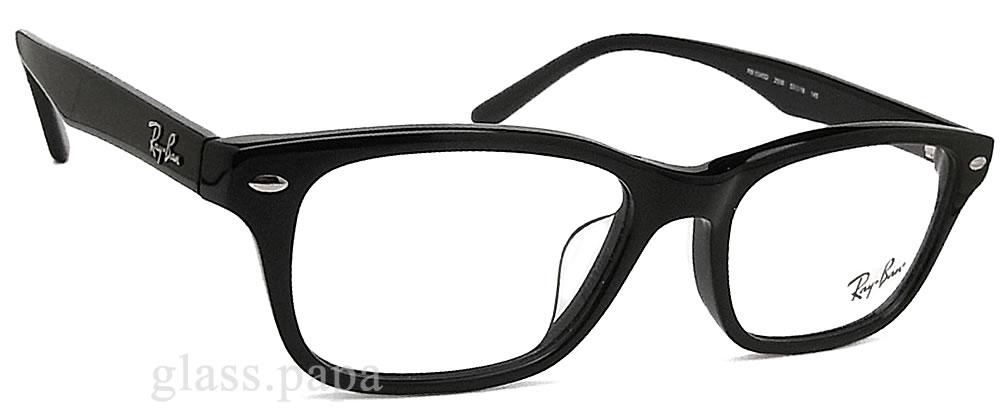 雷斑眼镜RayBan RB5345D-2000(RX5345D-2000)尺寸53眼镜名牌没镜片的眼镜度从属于的黑色人格子glasspapa