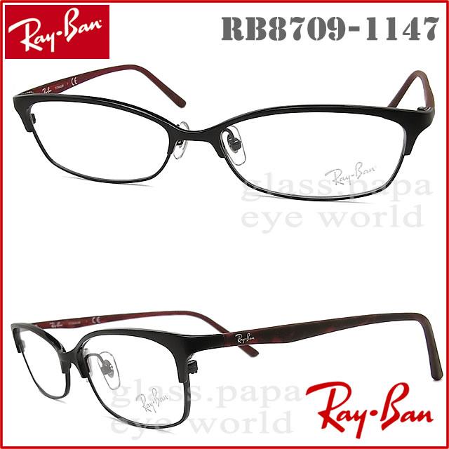 雷斑眼镜RayBan RB8709-1147眼镜名牌没镜片的眼镜度从属于的黑色人·女士金属glasspapa