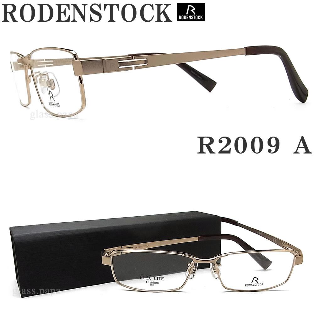 RODENSTOCK ローデンストック メガネ R 2009-A 眼鏡 ブランド 伊達メガネ 度付き ゴールド メンズ メタル