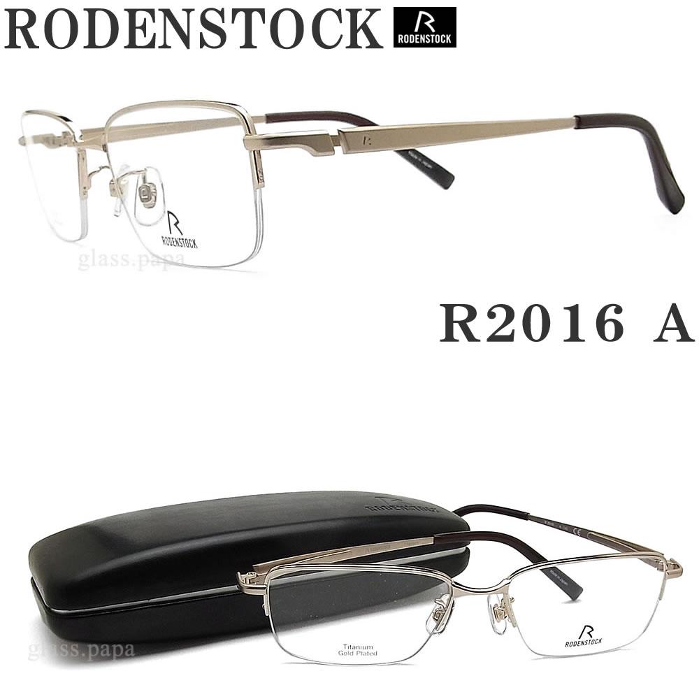 RODENSTOCK ローデンストック メガネ R 2016-A 眼鏡 ブランド 伊達メガネ 度付き ゴールド メンズ メタル