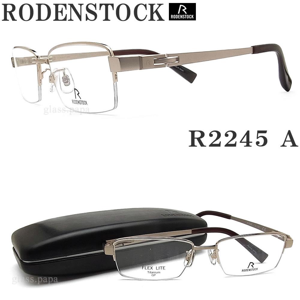 RODENSTOCK ローデンストック メガネ R 2245-A 眼鏡 ブランド 伊達メガネ 度付き ゴールド メンズ メタル