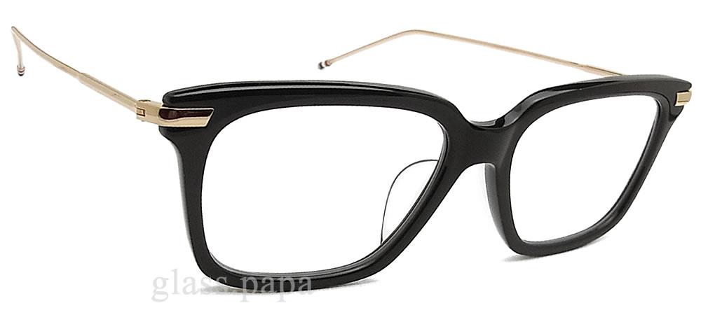 Thom 眼镜和眼镜黑色男装 glasspapa THOM BROWNE TB-701-A-BLK-GLD-49 梅甘娜经典约会