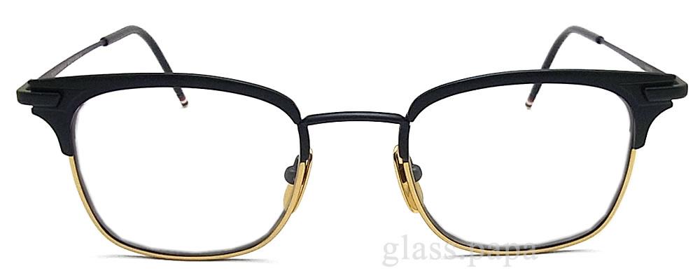 Tom Brown眼镜架子TB-102-C-NVY-GLD眼镜古典没镜片的眼镜度从属于的垫子深蓝人glasspapa