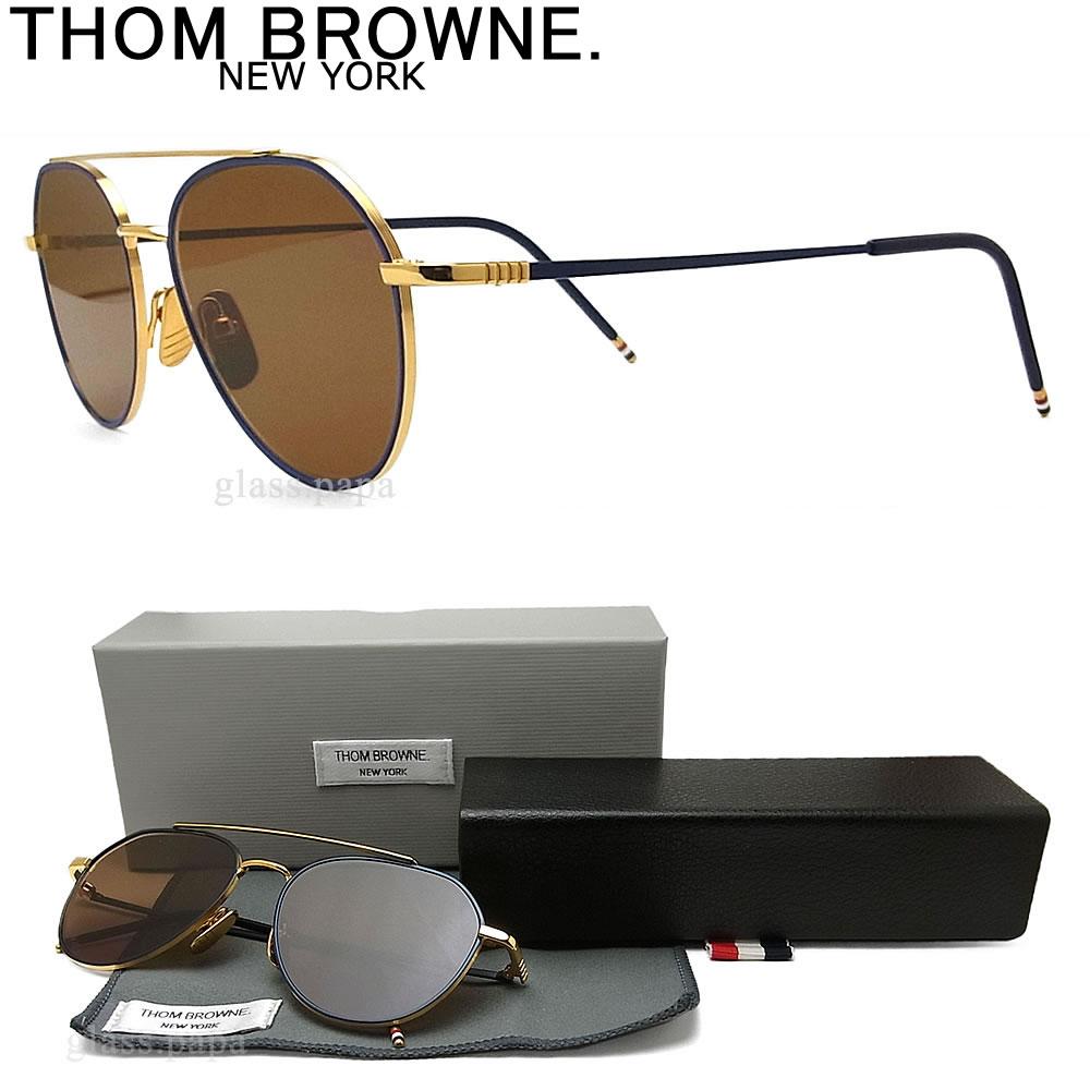 Thom sunglasses THOM BROWNE TB-105-C-NVY-GLD classic gold mens glasspapa