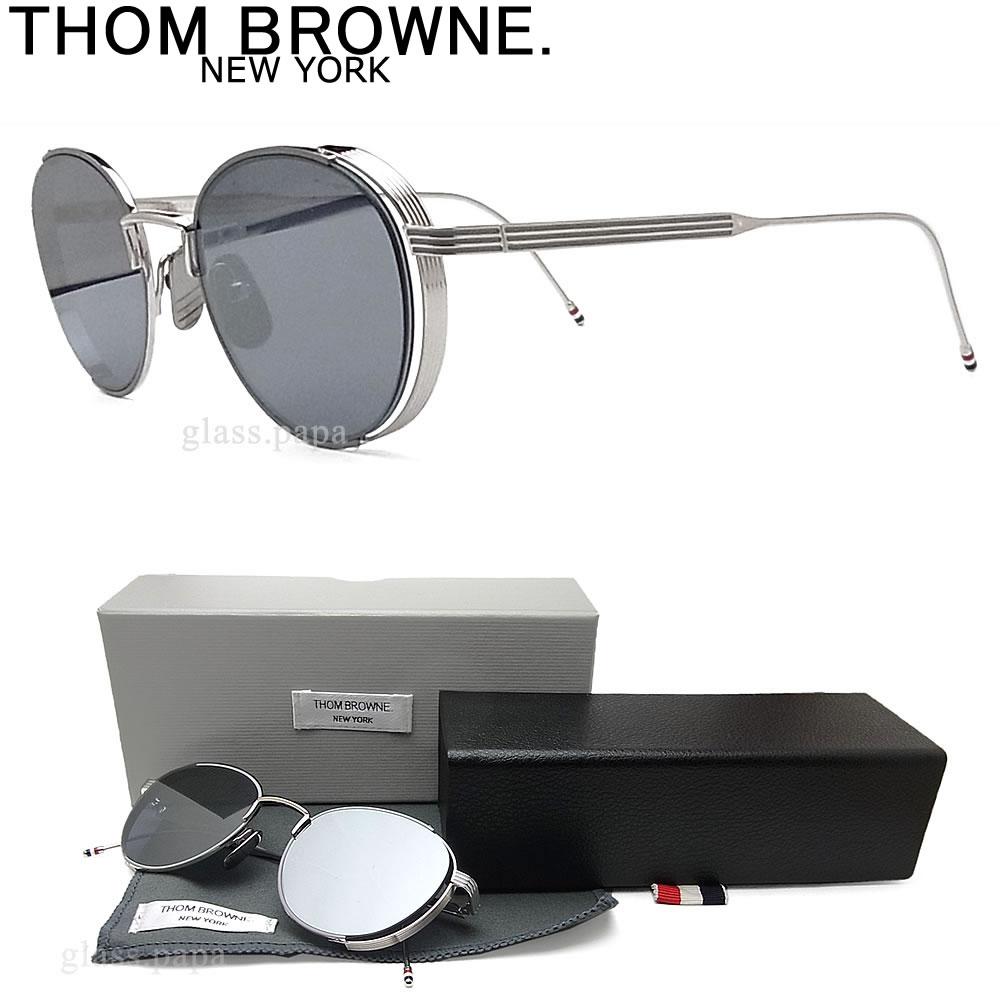 Tom Brown太阳眼镜TB-106-B-GRY-SLV平滑透镜古典银子人glasspapa