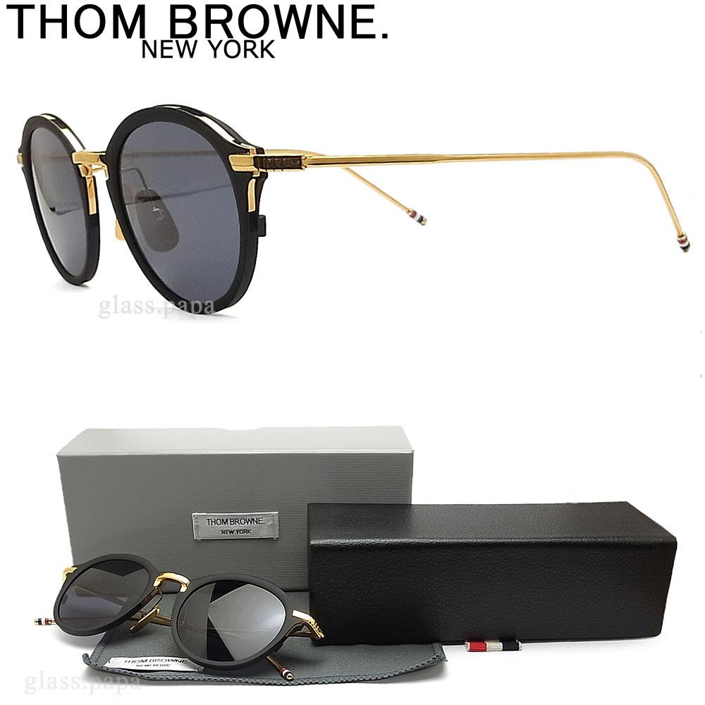 THOM BROWNE. トムブラウン サングラス TB-110-A-T-BLK-GLD-48 クラシック BLACK IRON ブラック×ゴールド ユニセックス
