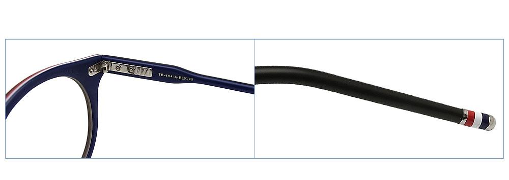Tom Brown眼镜架子TB-404-A-BLK-49眼镜古典没镜片的眼镜度从属于的垫子黑色人glasspapa
