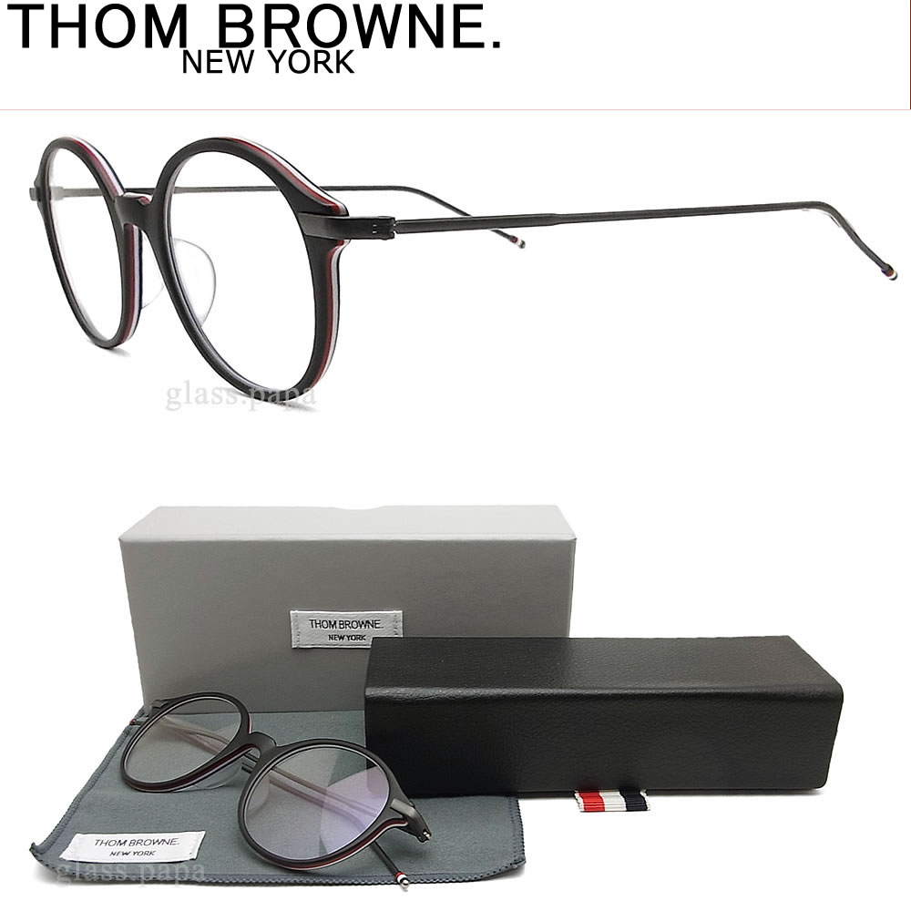 b14fc598208 THOM BROWNE. Havana men with the Tom Browne glasses frame TB-708-A-BLK-BLK-48  glasses classic glasses degree for show