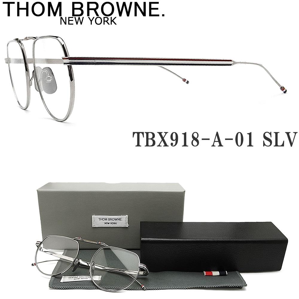トムブラウン メガネ日本全国送料無料 ギフトラッピング 大人気! 割り引き 代引き手数料無料 オプションで 伊達 度付 PC用レンズ 老眼用レンズ交換 THOM BROWNE. 眼鏡 クラシック シルバー メンズ TBX918-A-01 メガネ 度付き SLV 伊達メガネ レディース
