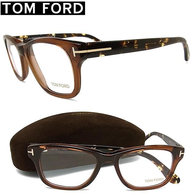 トムフォード メガネ TOMFORD TF5147-050 【送料無料・代引手数料無料】 セル 眼鏡 ブランド 伊達メガネ 度付き クリアブラウン メンズ 【イタリア製】