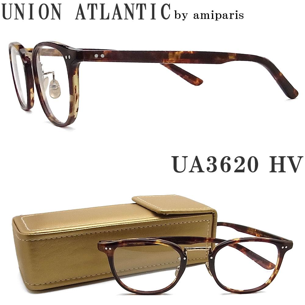 UNION ATLANTIC ユニオンアトランティック メガネ フレーム UA3620 HV セルロイド素材 クラシック 伊達メガネ 度付き ハバナ×ゴールド メンズ・レディース 日本製