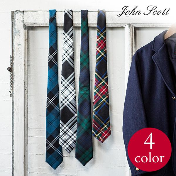 glencheck wool check tie john scott john scott gift men man