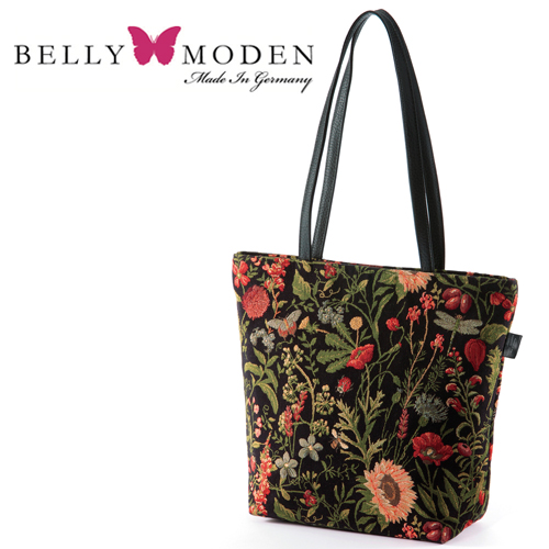 Outlet! Made in Germany Père floral tote bag /BELLY MODEN (bad fasteners) (no tags)