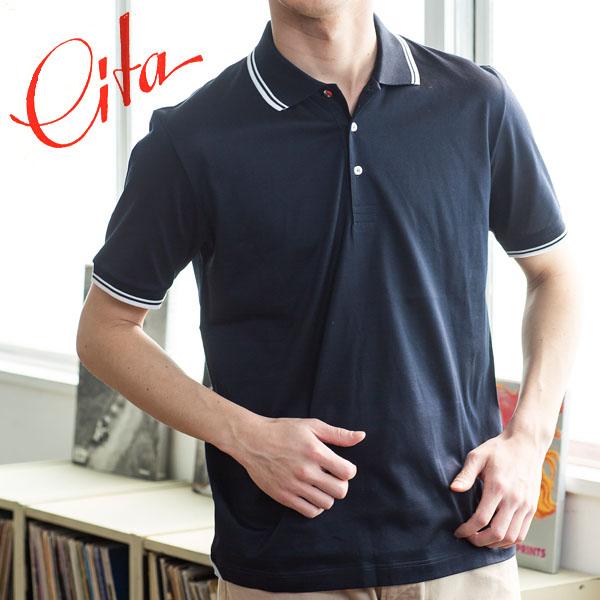 イタリア製 ジャージー マーセライズ ポロシャツ[CITA/チータ][メンズ 男性用 半袖 無地 伸縮 吸汗速乾] [送料無料][18ap04]