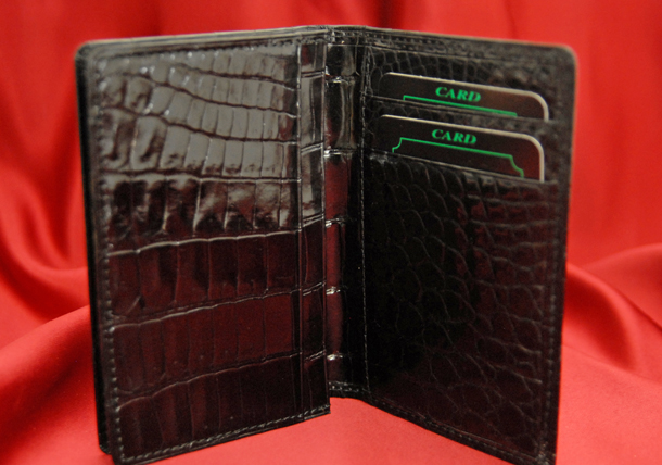 Real crocodile leather use business card holder