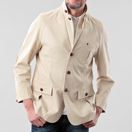 Cotton linen shooting jacket /HBCfs3gm