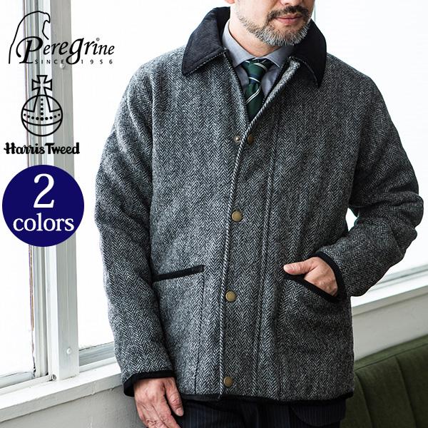 c85b6020ff57 GLENCHECK   Harris Tweed  HARRIS TWEED quilting jacket  Harris Tweed ...