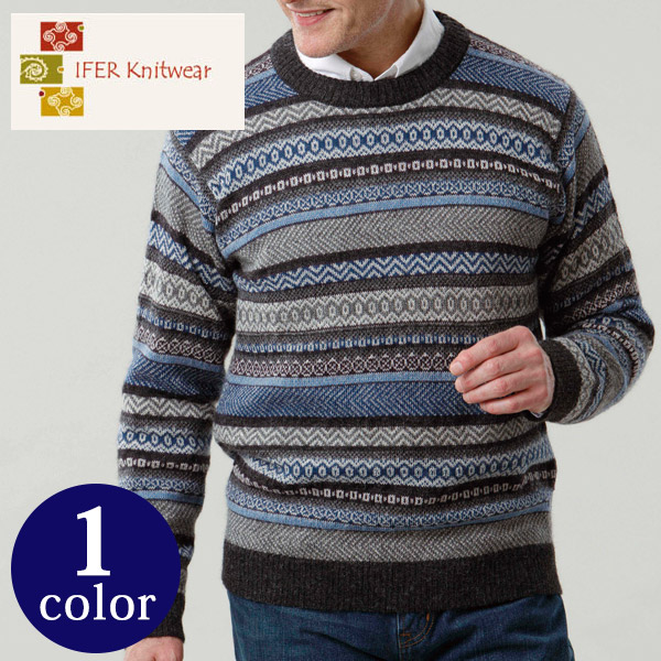 アルパカ フェアアイル セーター IFER Knitwear アイファーニットウェア [ニット ギフト メンズ 男性 彼氏 退職祝い おしゃれ ブランド 誕生日プレゼント][送料無料]