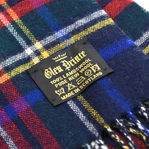 2dc7955b826f Lambswool lamb s wool reverse check stall scarf GLEN PRINCE Glenn prince  made in the U.K.