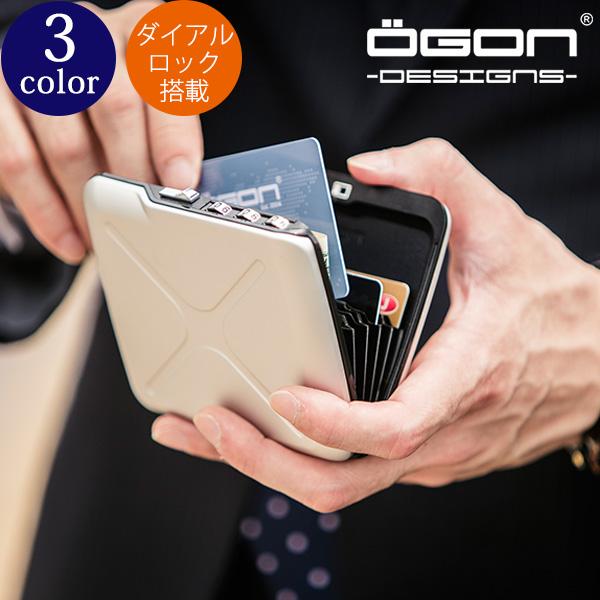 [名入れ無料]OGON アルミコードロックウォレット[送料無料][OGON/オゴン][ギフト 防犯 鍵 ロック アルミニウム カードホルダー 蛇腹式 ジャバラ カードケース クレジットカード入れ ビジネス プレゼント] グレンフィールド