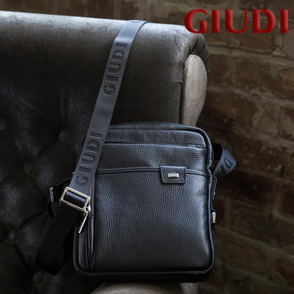 【送料無料】イタリア製 メンズ ミニショルダーバッグ [GIUDI/ジウディ][本革 男性用 ショルダーバッグ 斜め掛け]