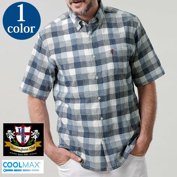 ボックスチェックシャツ(クールマックス ファブリック使用) [Herringbone Club/ヘリンボーンクラブ][シャツ ギフト メンズ 男性 彼氏 おしゃれ ブランド 誕生日プレゼント]