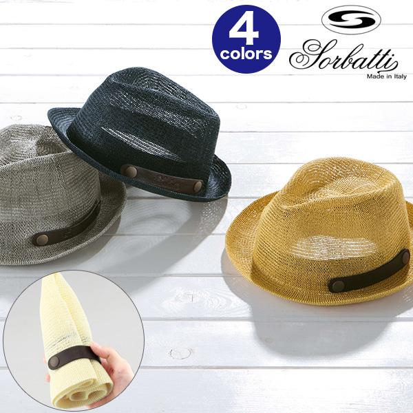 A Cool Feeling Crusher Bulldog Hat [SORBATTI Sor Bhatti Panama Hat Hemp  Wheat わらぼうし Men Straw Hat Hat Summer] Made In Italy [hat Storage BOX ...