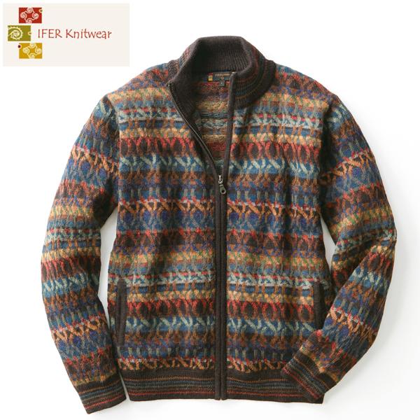 [IFER Knitwear/アイファーニットウェア] アルパカ ジッパー クスコセーター [メンズ 男性 彼氏 おしゃれ 誕生日 プレゼント] [送料無料]