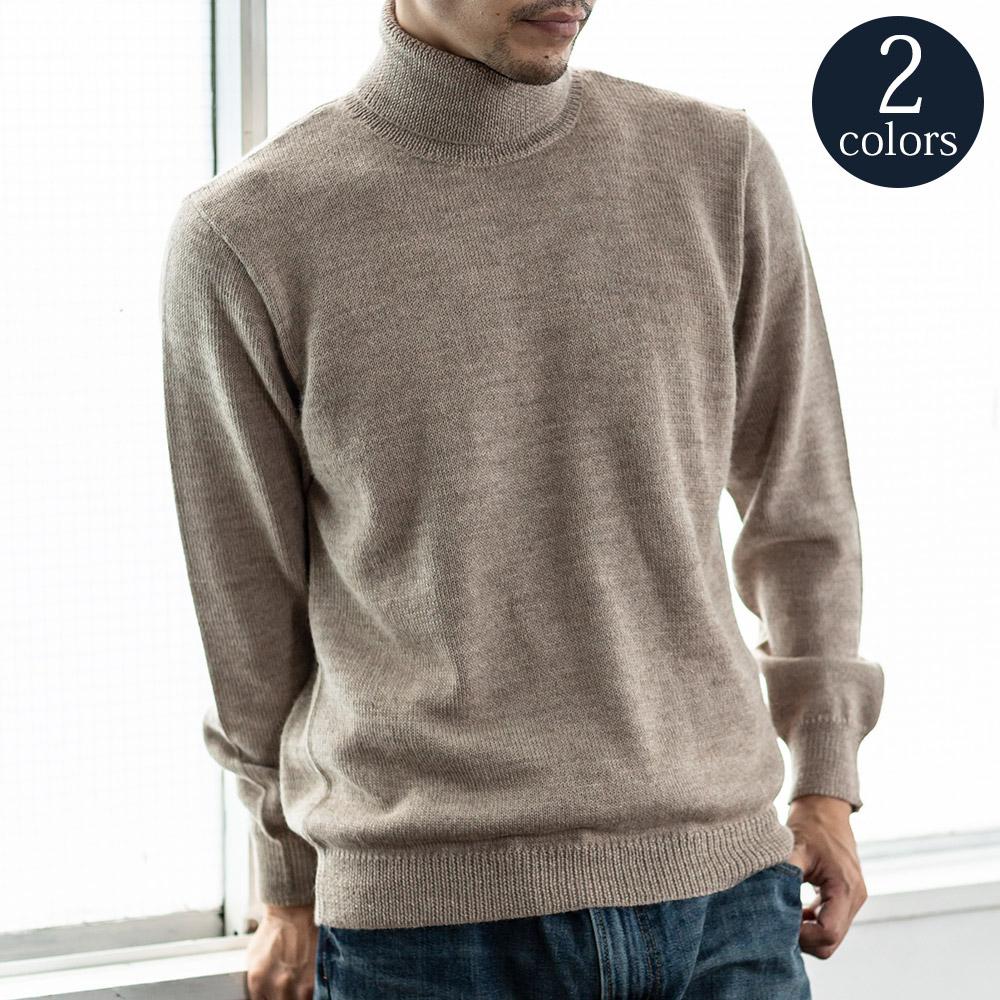 アルパカ ベビーアルパカ メンズ 男性 タートルネック セーター[送料無料][EGP Knitwear/イージーピー・ニットウェア]