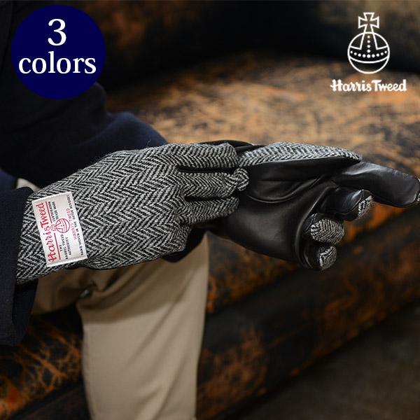 ハリスツイード]HARRIS TWEED 手袋 メンズグローブ/シープスキン[羊革 本革 メンズファッション 防寒 誕生日プレゼント 男性 グローブ カジュアル ビジネス 防寒 秋冬物] グレンフィールド