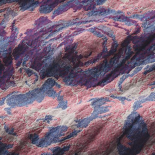 法国做出的有机棉印花围巾