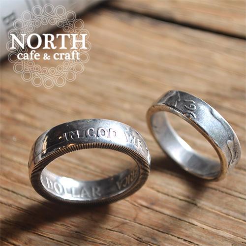 【送料無料】【NORTH cafe & craft(ノースカフェ&クラフト)】ハーフダラー シームレス ペアリング NW-008 50¢PAIR RING グレンフィールド