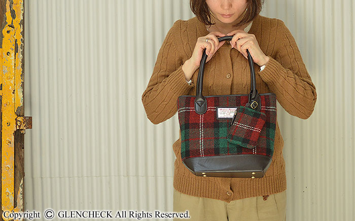 692c07f42ed GLENCHECK: Harris Tweed midi tote bag | Rakuten Global Market