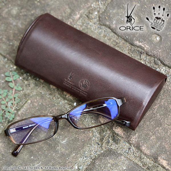 Ollie Che leather real leather glasses case 40197769fs3gm