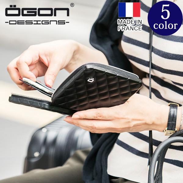 [名入れ無料]OGON フランス製アルミキルトパスポートウォレット[OGON/オゴン][送料無料][ギフト アルミニウム カードケース ビジネス ポイントカード プレゼント レディース パスポート 入れ ケース かわいい] グレンフィールド