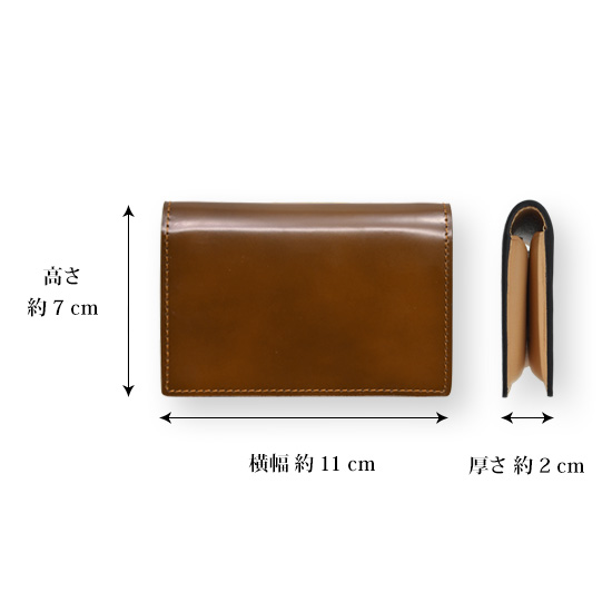 "[Free Name-Engraving] ""FLYING HORSE"" cordovan leather card case Miyauchi leather [point 10 times] [10P10Apr13]"