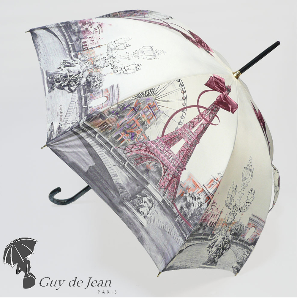 GUY DE JEAN ギ・ド・ジャン パリ エッフェル塔 雨傘 長傘 PARIS1900傘 レディース guy de jean 傘 シャンタル・トーマス アイボリー 白 ホワイト ギフト プレゼント 誕生日  彼女 妻 女性 人気 お祝い