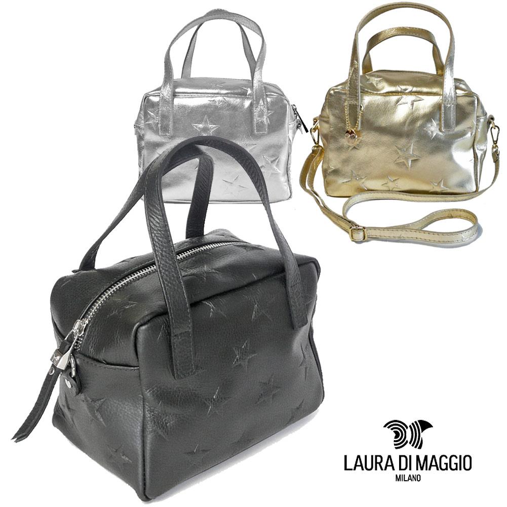 ローラ ディ マジオ LAURA DI MAGGIO カーフレザー 2way 星柄 キューブバッグ レディース 星型押し 320